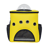 Cat Dog Carrier & Travel Backpack Astronaut Capsule Carrier Pet Carrier Portable Breathable Solid Yellow