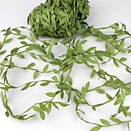 20Meter Silk Leaf-Shaped   Artificial Green Leaves For Wedding Decoration DIY Wreath Gift Scrapbooking Craft Fake Flower