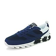 Masculino-Tênis-Conforto Solados com Luzes-Rasteiro-Preto Cinzento Azul-Tecido Couro Ecológico-Ar-Livre Escritório & Trabalho Casual