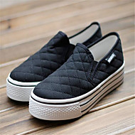 Damă Pantofi PU Primăvară Vară Pantof cu Berete Adidași Toc Plat Pentru Casual Alb Negru Rosu