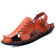 """גברים סנדלים נוחות עור אביב קיץ סתיו קזו'אל שמלה נעלי ספורט מים לבן שחור חום בהיר ס""""מ 2.54 - ס""""מ 4.45"""