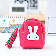 Cartoon Rabbit Pattern Change Purses PU Leather 1 PCS