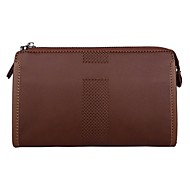 Men Bags PU Polyester Wallet for Formal Office & Career Professioanl Use All Seasons Black Coffee Khaki
