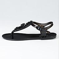 Kadın Sandaletler Rahat PU Bahar Günlük Beyaz Siyah Düz