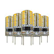 billige Bi-pin lamper med LED-YWXLIGHT® 5pcs 3W 200-300 lm G8 LED-lamper med G-sokkel T 64 leds SMD 3014 Mulighet for demping Dekorativ Varm hvit AC 110V