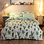 cheap Contemporary Duvet Covers-Duvet Cover Sets 3D Poly / Cotton Reactive Print 4 Piece