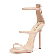cheap Plus Size Shoes-Women's Shoes PU Spring Summer Gladiator Club Shoes Sandals Stiletto Heel Round Toe Zipper for Wedding Dress Party & Evening Office &