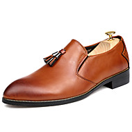 ieftine -Bărbați Pantofi Piele Confortabili Oxfords pentru Casual Birou și carieră Negru Maro