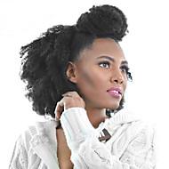 PANSY Mit Clip Haarverlängerungen Kinky Curly Echthaar Brasilianisches Haar Natürlich Schwarz