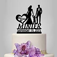 Figure za torte Vrt Tema Klasični Tema rustikalni Tema Par Classic Opeka Vjenčanje godišnjica Rođendan Djevojačka večer Baby Tuš s OPP