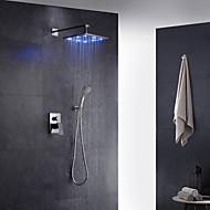 tanie Baterie prysznicowe-Bateria natryskowa - nowoczesny art deco / retro nowoczesny chromowany mosiężny zawór ścienny naścienny