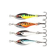 "cheap Fishing-4 pcs Spinner Baits Fishing Lures Buzzbait & Spinnerbait g / Ounce mm / 2-3/8"" inch, Metal Sea Fishing Spinning Jigging Fishing"