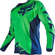 billige -fox motorsykkel off-road t-skjorte langermet ridedress hastighet utendørs sports fritidsklær svart oransje gul rød grønn blå grå og forskjellige størrelser
