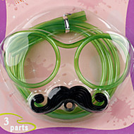 billiga Bordsservis-1 st roliga mjuka glasögon halm unika flexibla drickrör barn fest tillbehör