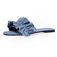Dámské Boty Flís Léto S páskem Mary Jane Pantofle a Žabky Sandály Chůze Nízký podpatek Kulatý palec Rozdělení Pro Ležérní Modrá Růžová