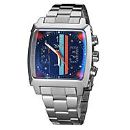Férfi Karóra Egyedi kreatív Watch mechanikus Watch Automatikus önfelhúzós Naptár Rozsdamentes acél Zenekar Luxus Ezüst Fekete