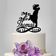 ケーキトッパー あり 夫妻 アクリル 結婚式 記念日 ブライダルシャワー ガーデンテーマ クラシックテーマ OPP