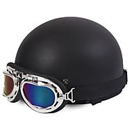 halv ansigt motorcykel hjelm harley stil fleksibel abs street motorcykel hjelm mat sort farve
