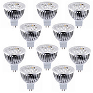 10pcs 5.5w mr16 (gu5.3) led spotlight 4 high power led warm / cool wit led spotlight lamp led lamp dc12v