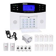 お買い得  防犯アラームシステム-433MHz SMS 携帯電話 パネルキーボード リモコン 433MHz GSM SMSアラーム 電話アラーム サウンドアラーム FTPアラーム ホーム警報システム