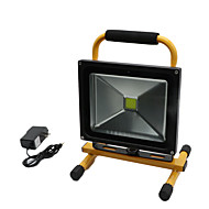 hkv®1pcs 30w 2850-2950lm軽い携帯用充電式洪水ライト非常灯ライト投光器ac 85-265v