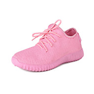 baratos Sapatos Femininos-Mulheres Sapatos Couro Ecológico Primavera / Verão Conforto Tênis Corrida Sem Salto Penas Roxo / Pêssego / Verde
