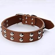 犬 カラー 調整可能 / 引き込み式 ソリッド ブラック Brown レッド ブルー ピンク