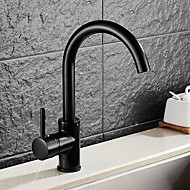 水栓 - シングルハンドルつの穴 オイルブロンズ 標準スパウト 洗面ボウル アンティーク Kitchen Taps