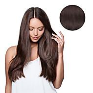 7 개 / 헤어 확장에 4 어두운 갈색 모카 브라운 클립이 100 % 인간의 머리를 18 인치 14inch 설정 #