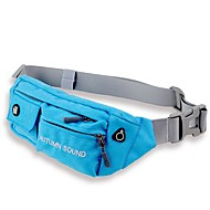 Men Bags Nylon Waist Bag for Casual Sports Outdoor All Seasons Gray Purple Aquamarine Yellow Clover