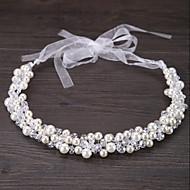 Cristal / Imitação de Pérola Tiaras / Headbands / Flores com Floral 1pç Casamento / Ocasião Especial / Ao ar livre Capacete