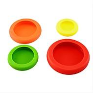 4pcs / set groentevruchten knuffels plastic kleurrijke voedsel knuffels om je voedsel veilig te houden verse keuken gereedschap ramdon