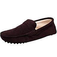 baratos Sapatos Masculinos-Homens Sapatos formais Camurça Casual Mocassins e Slip-Ons Khaki / Azul Real / Vinho / Loafers de conforto