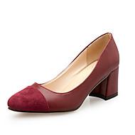 Mujer Zapatos PU Verano Confort / botas slouch Tacones Paseo Tacón Cuadrado / Talón de bloque Dedo Puntiagudo Hebilla Negro / Beige / Gris yS2qZoTy