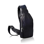 Man Sling Shoulder Bags PU Alle seizoenen blauw Zwart Bruin