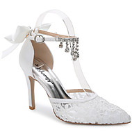 cheap Women's Shoes-Women's Shoes Silk Customized Materials Summer Fall D'Orsay & Two-Piece Sandals Stiletto Heel Pointed Toe Rhinestone Appliques Satin