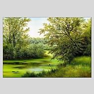 Handgeschilderde Landschap Horizontaal Panoramisch,Modern Klassiek Eén paneel Canvas Hang-geschilderd olieverfschilderij For Huisdecoratie