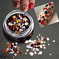 1bottle sladký barva módní nehty umění smíšené velikost barvitý laser kolo plátek třpyt paillette plátek dekorace p13