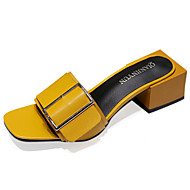 Women's Sandals Comfort PU Summer Outdoor Comfort Low Heel White Black Yellow 3in-3 3/4in