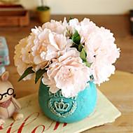 5 osainen 5 haara Silkki Pioonit Pöytäkukka Keinotekoinen Flowers