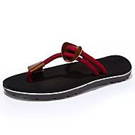 Men's Shoes PU Spring Summer Light Soles Sandals For Casual Black Brown Red Khaki