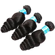 שיער אנושי שיער ויאטנמי טווה שיער אדם גל עדין תוספות שיער 3 חלקים שחור