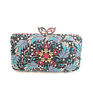 baratos Clutches & Bolsas de Noite-Mulheres Bolsas PU / Metal Bolsa de Festa Detalhes em Cristal Azul