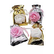 20pcs sliver e flores de ouro sacos de presente bolsas de doces casamento caixa de casamento