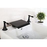 cheap Sprinkle® Faucets-Black Two Handles Three Holes  ,  Feature  for Waterfall