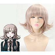 DanganRonpa Cosplay Wigs Chiaki Nanami Costume Play Woman Adult Wig Halloween Anime Game Hair Heat Resistant Wave Short Wig