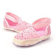 Infantil Sandálias Materiais Customizados Verão Vazados Flor Rasteiro Branco Rosa claro Rasteiro