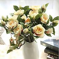 10 Gren Silke Gardenia Bordblomst Kunstige blomster