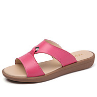 cheap Women's Sandals-Women's Shoes Leather Summer Fall Comfort Sandals Flat Heel for Dress White Yellow Fuchsia