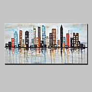 Hand-Painted Knife Oil Painting On Canvas Modern Abstract City Wall Art Pictures For Home Decoration Ready To Hang
